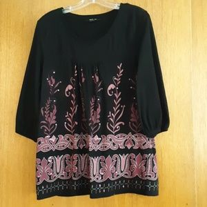Style & co black/berry top